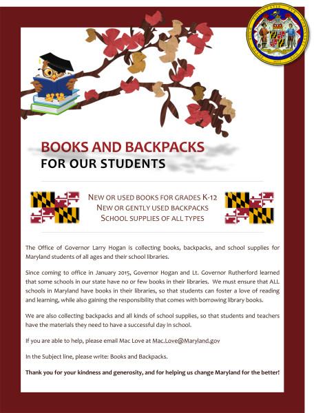 Books and Backpacks - Nov 2015
